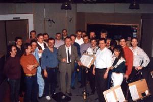 """CD-Aufnahme im Studio 80 mit Besuch des """"Königs der Blasmusik"""" Ernst Mosch"""